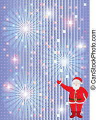 background with Santa Claus