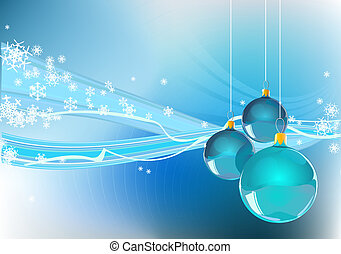Christmas background - Abstract Christmas background with...