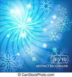 abstract christmas background with snowflakes vector...