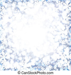 Abstract Christmas background with soft fluffy snow.