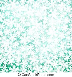 Abstract Christmas background with soft fluffy snow made ??of realistic falling snowflakes.