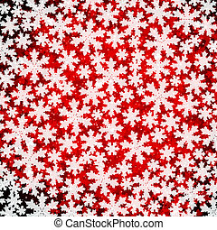 Abstract Christmas background with soft fluffy snowflakes.