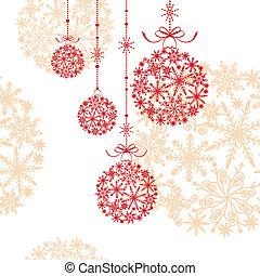 Christmas balls on seamless pattern