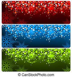 Abstract Christmas Banner