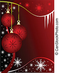 Abstract Christmas Baubles Background