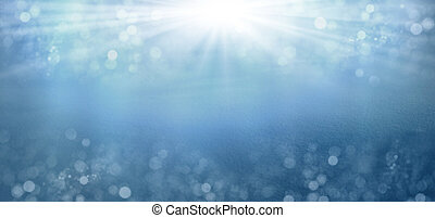 abstract Christmas blue background with snow