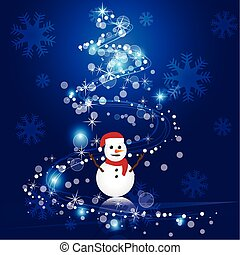 abstract christmas blue vector background
