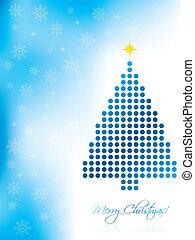 Abstract christmas card design
