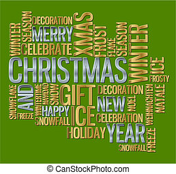 Abstract christmas card