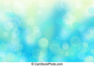 Abstract christmas circular bokeh blue background