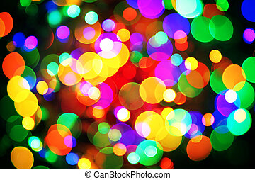 abstract christmas color lights background