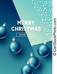 Abstract christmas design with baubles