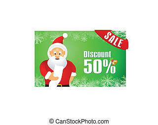 abstract christmas discount gift card vector illustration