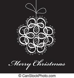 Abstract christmas fantasy card