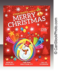 abstract christmas flyer template