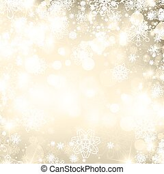 Abstract Christmas Golden Background