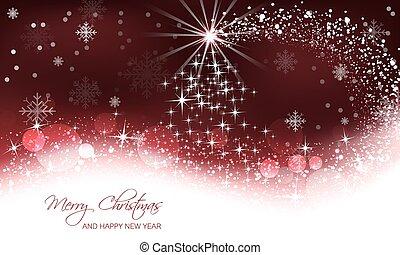 Abstract Christmas greeting card.