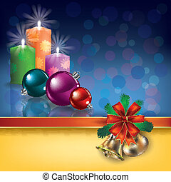 Christmas greeting with candles