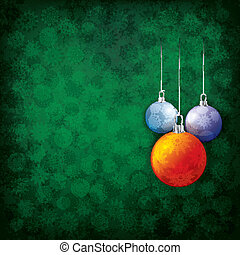 Abstract christmas grunge background with decorations
