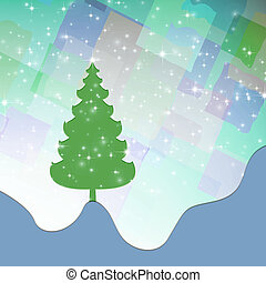 Abstract Christmas landscape