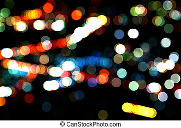 Abstract Christmas City Lights Vintage Stock