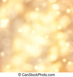 Abstract christmas lights on background.  Festive background with defocused Golden bokeh