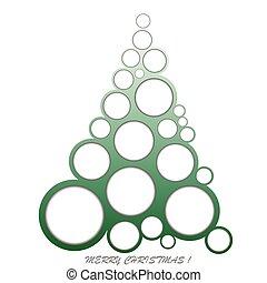 Abstract Christmas made of circles