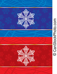 Abstract christmas postcard with snowflakes.