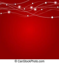 Abstract christmas red background vector illustration