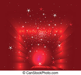 Abstract christmas red stars