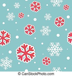 Abstract Christmas  seamless background with snowflakes