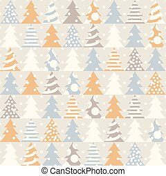 Abstract Christmas seamless pattern. Vector illustration.