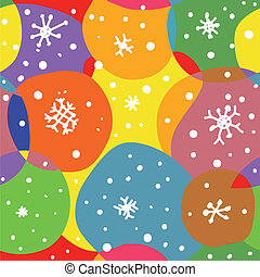 Abstract christmas seamless pattern with circles and snow
