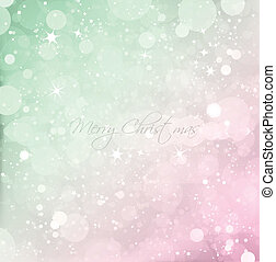 Abstract Christmas with snow background. Vector illustration