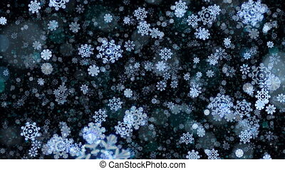 Abstract Christmas snowflakes background.
