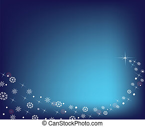 Abstract Christmas star with snowflakes