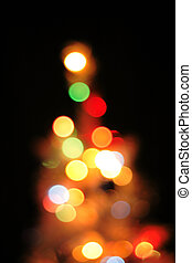abstract christmas tree background (color lights)