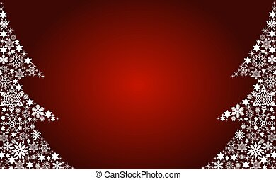 Abstract christmas tree background red