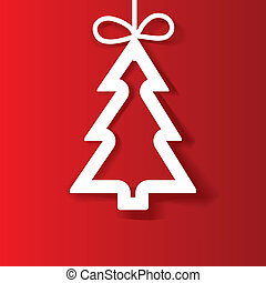 Abstract christmas tree background, vector