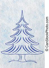 Abstract christmas tree, christmas card