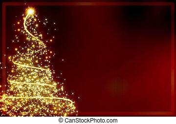 Abstract christmas tree - Abstract golden christmas tree on...