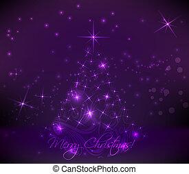 Abstract christmas tree - Abstract swirly christmas tree on...