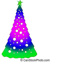 Abstract Christmas tree isolated on a white background