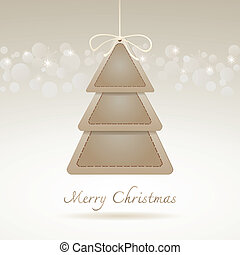 Abstract Christmas tree, Paper style
