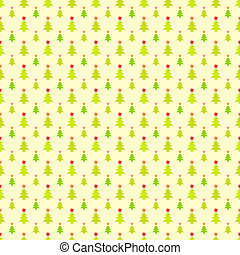 Abstract Christmas tree pattern wallpaper. Vector illustration