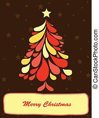 Abstract christmas tree. Vector