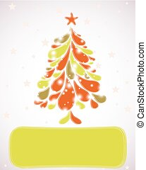 Abstract christmas tree. Vector background