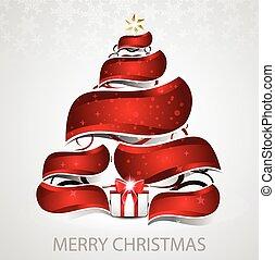 abstract christmas tree vector back