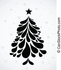 Abstract Christmas tree. Vector