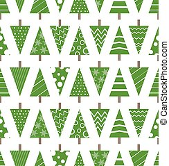 Abstract christmas trees seamless background. Design elements